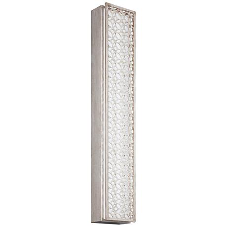 """Feiss Kenney 35""""H Sunrise Silver 6-Light LED Wall Sconce"""