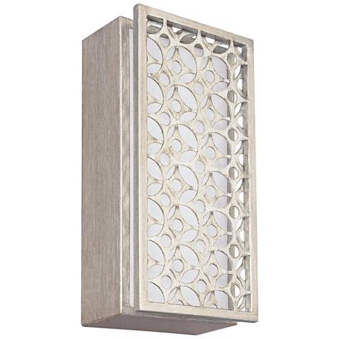 """Feiss Kenney 12 1/4"""" High Sunrise Silver LED Wall Sconce"""