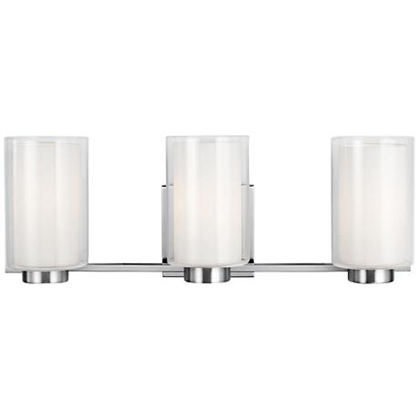 "Feiss Bergin 3-Light 21 1/2"" Wide Satin Nickel Bath Light"