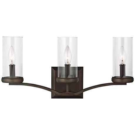 "Feiss Jacksboro 3-Light 20 1/2"" Wide Copper Bath Light"
