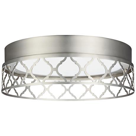 """Feiss Amari Vintage 13""""W Satin Nickel LED Ceiling Light"""