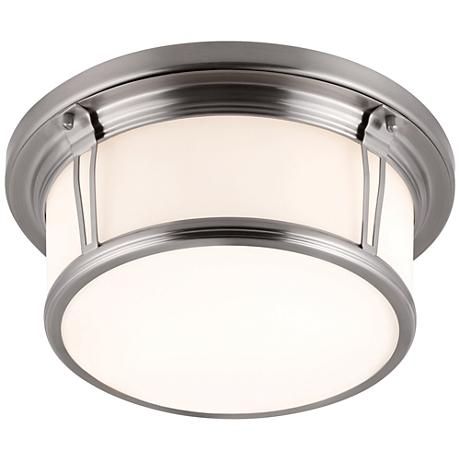 """Feiss Woodward Brushed Steel 13 1/4""""W LED Ceiling Light"""