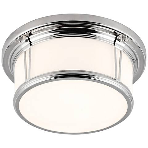"Feiss Woodward Polished Nickel 13 1/4""W LED Ceiling Light"