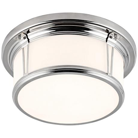 """Feiss Woodward Polished Nickel 13 1/4""""W LED Ceiling Light"""