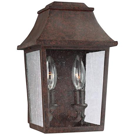 "Feiss Este 10 3/4"" High Patina Copper Outdoor Wall Light"