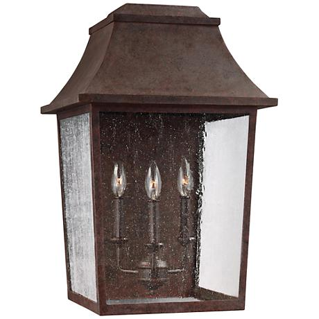 "Feiss Este 23"" High Patina Copper Outdoor Wall Light"