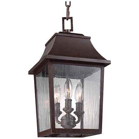 "Feiss Este 16 1/2""H Patina Copper Outdoor Hanging Light"