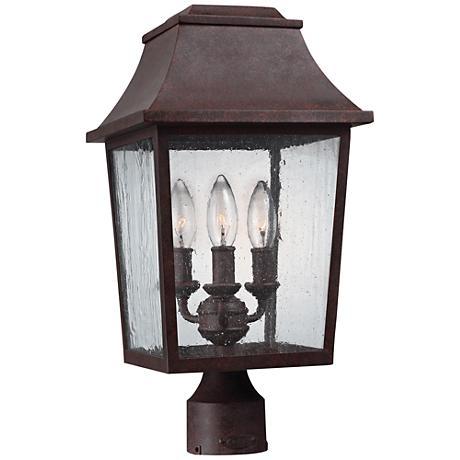 "Feiss Este 17 3/4"" High Patina Copper Outdoor Post Light"
