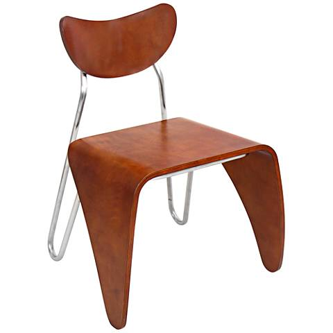 Toro Walnut Bent Wood Dining Side Chair