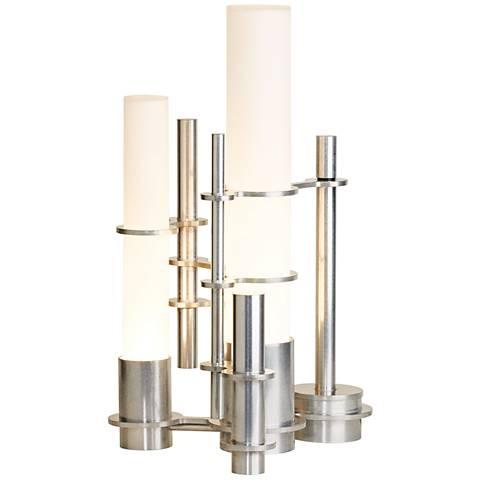 Hubbardton Forge Cityscape Polished Aluminum Table Lamp