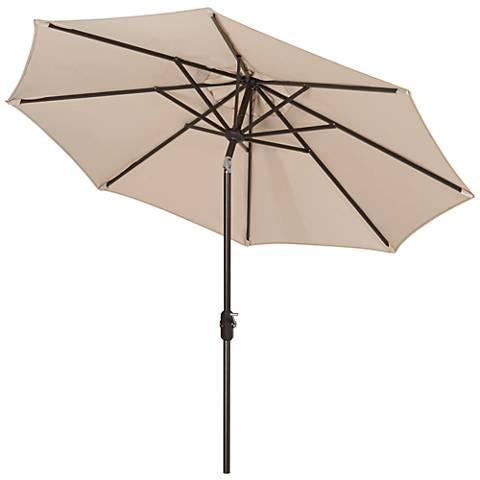 Ortega Beige 9' Aluminum Crank Umbrella