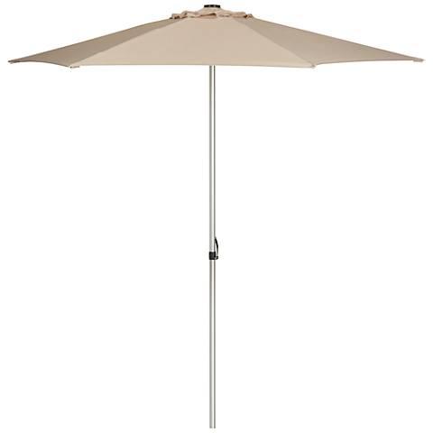 Manchester Beige 9' Aluminum and Steel Push Up Umbrella