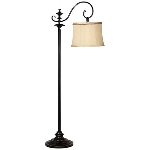 Duetto Oiled Black Bronze Downbridge Floor Lamp