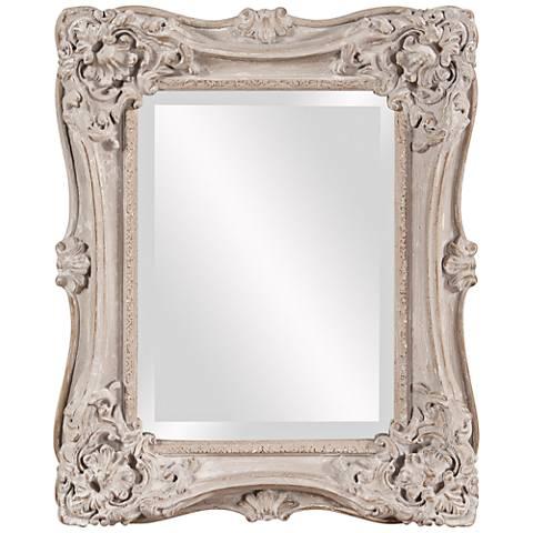 "Howard Elliott Sara Antique Taupe 18"" x 22"" Wall Mirror"