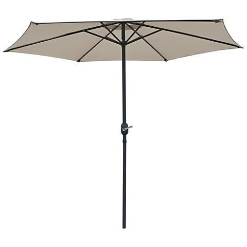 Rancho Beige 9' Steel Crank Umbrella
