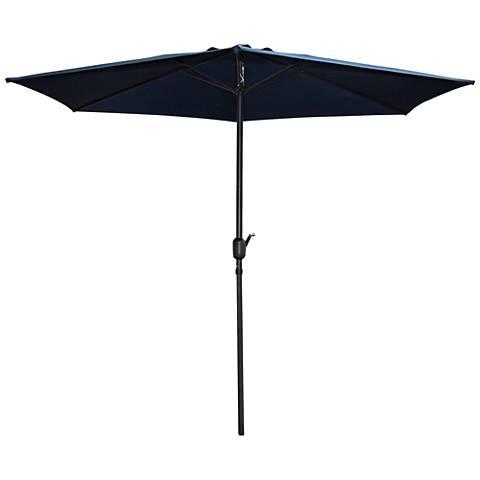 Rancho Navy Blue 9' Steel Crank Umbrella
