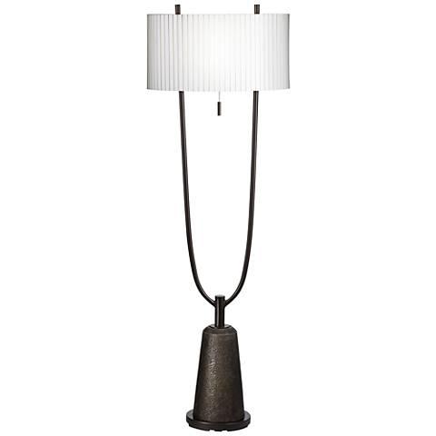 Virga Black 2-Prong Base Metal Floor Lamp