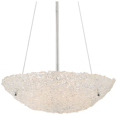 "Quoizel Vision Chrome 20 1/2""W Ice Glass Pendant Light"