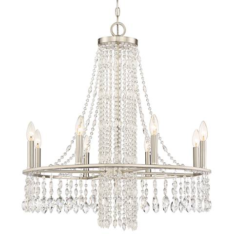 "Quoizel Majestic 27 1/2"" Wide Brushed Nickel Chandelier"