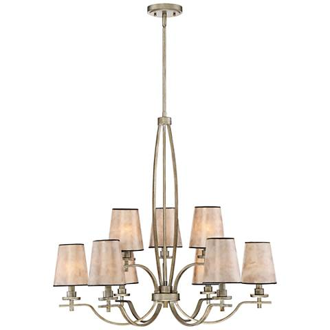 "Quoizel Belhaven 31"" Wide Vintage Gold 9-Light Chandelier"