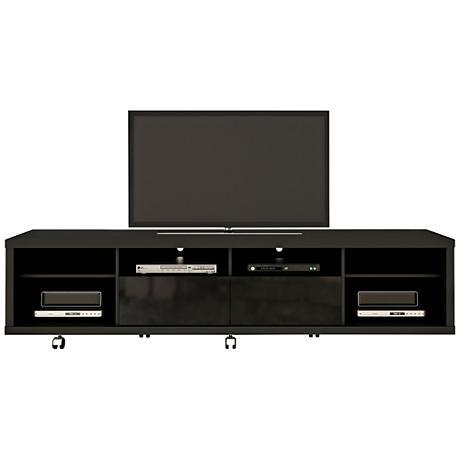 Cabrini 2.2 Black Wood 2-Drawer TV Stand