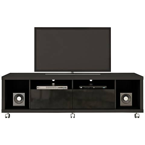 Cabrini 1.8 Black Wood 2-Drawer TV Stand