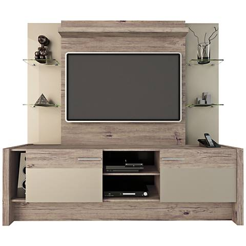 Morning Side Nature and Nude 2-Door Entertainment Center