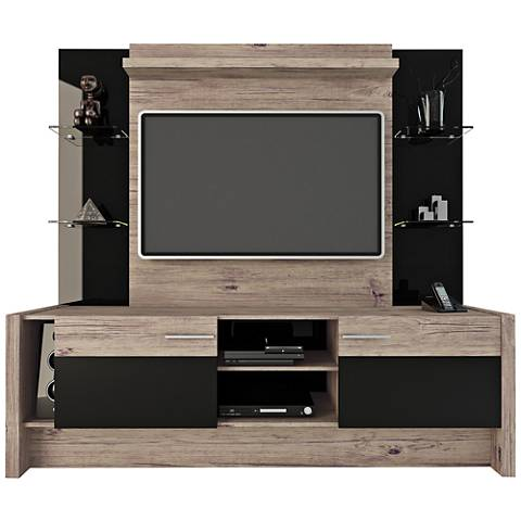 Morning Side Nature and Black 2-Door Entertainment Center