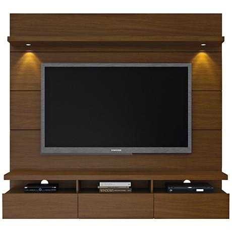 Cabrini 1.8 Nut Brown Floating Wall Entertainment Center