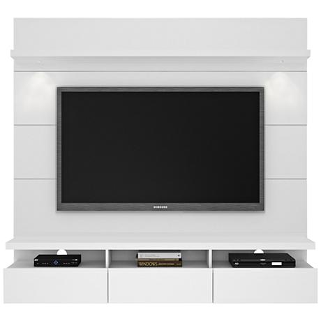 Cabrini 1.8 White Gloss Floating Wall Entertainment Center