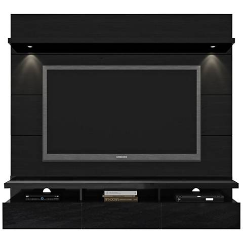 Cabrini 1.8 Black Floating Wall Entertainment Center