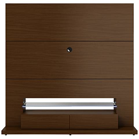 Riverside Nut Brown Entertainment Center with LED lights