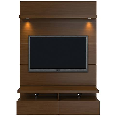Cabrini 1.2 Nut Brown Floating Wall Entertainment Center