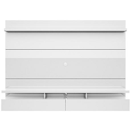 City 2.2 White Gloss Wood Floating Wall Entertainment Center