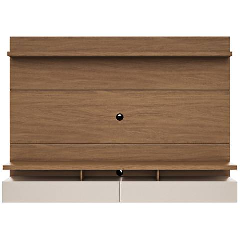 City 2.2 Maple Cream Wood Floating Wall Entertainment Center