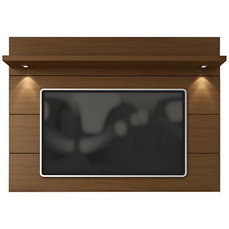 Cabrini 2.2 Nut Brown Wood Floating Wall TV Panel