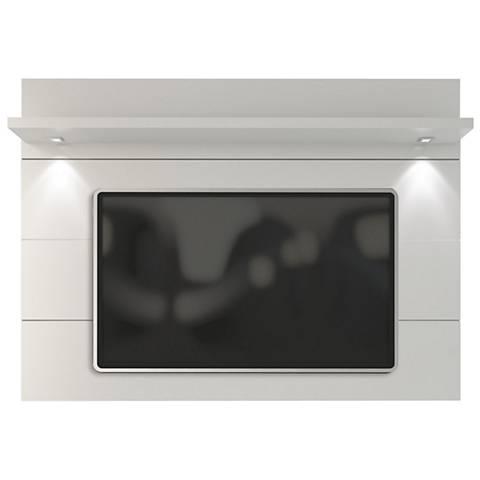 Cabrini 2.2 White Gloss Wood Floating Wall TV Panel