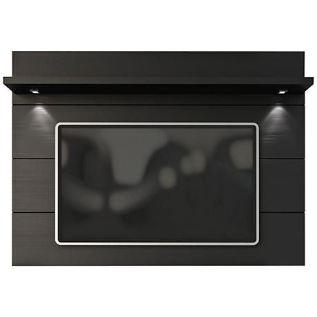 Cabrini 2.2 Black Matte Wood Floating Wall TV Panel