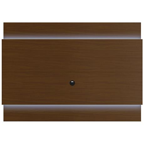 Lincoln 1.9 Nut Brown Floating Wall TV Panel with LED Lights