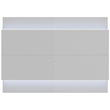 Lincoln 1.9 White Floating Wall TV Panel with LED Lights