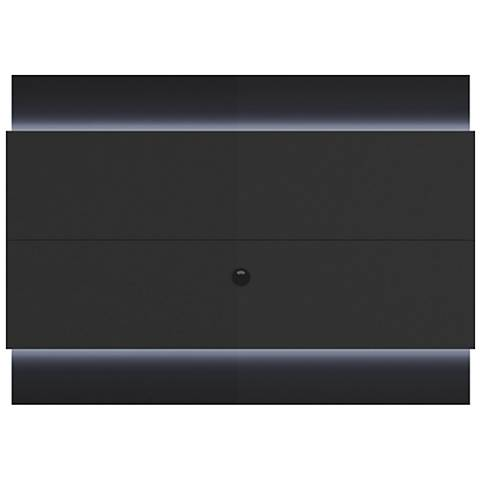 Lincoln 1.9 Black Floating Wall TV Panel with LED Lights
