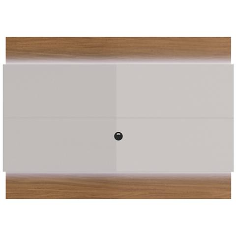 Lincoln 1.9 Off-White Floating Wall TV Panel with LED Lights