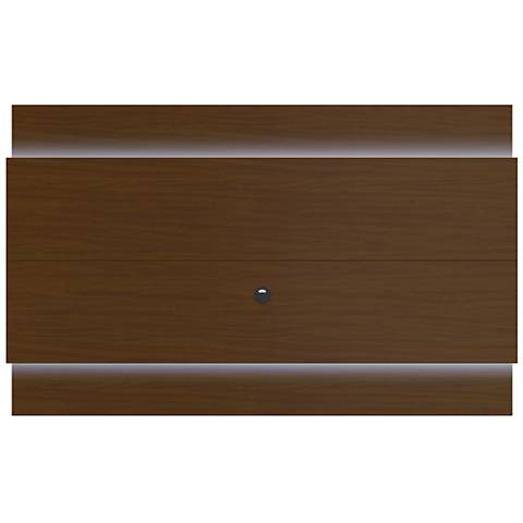 Lincoln 2.2 Nut Brown Floating Wall TV Panel with LED Lights
