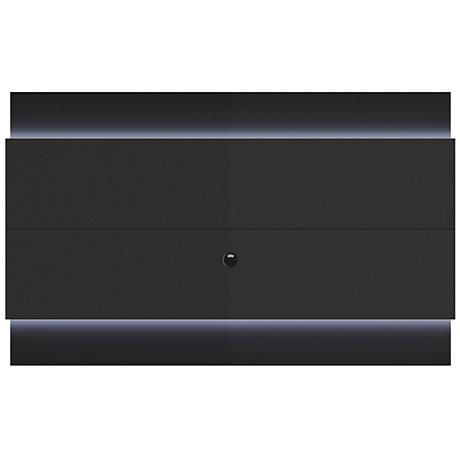 Lincoln 2.2 Black Floating Wall TV Panel with LED Lights