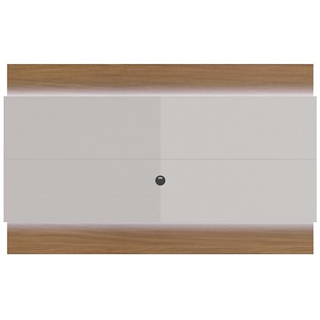 Lincoln 2.2 Off-White Floating Wall TV Panel with LED Lights