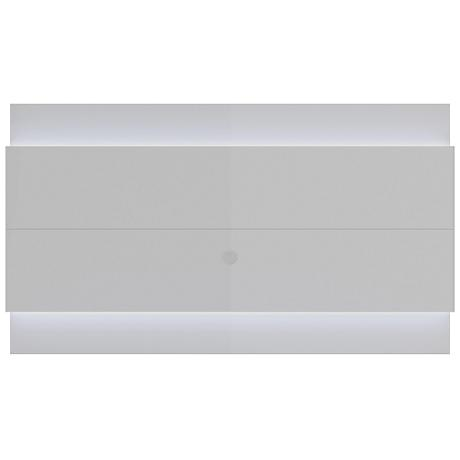 Lincoln 2.4 White Floating Wall TV Panel with LED Lights