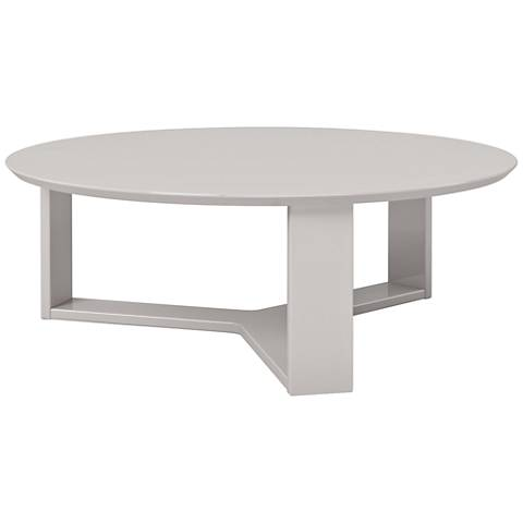 Madison 1.0 Off-White Wood Round Accent Coffee Table
