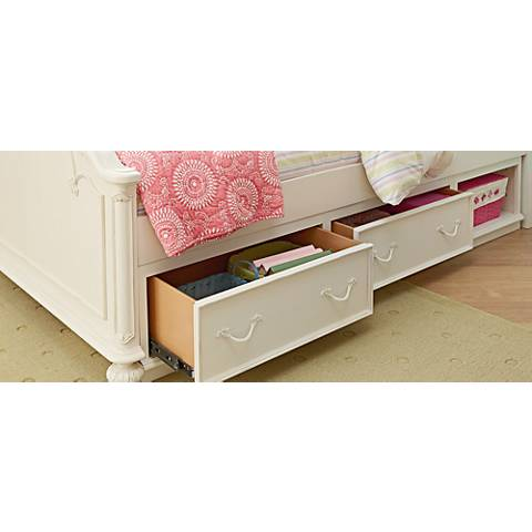Charlotte Antique White Underbed Storage Drawer