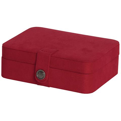 Mele & Co. Giana Plush Red Fabric Jewelry Box