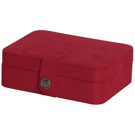 Mele & Co. Giana Plush Red Fabric Jewelry Box